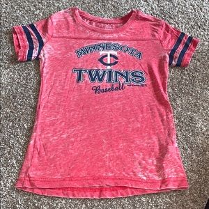Minnesota Twins red burnout shirt
